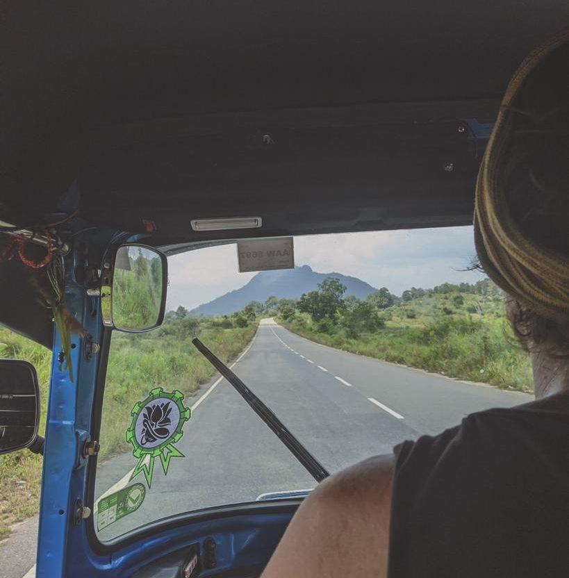 open road in a tuktuk sri lanka