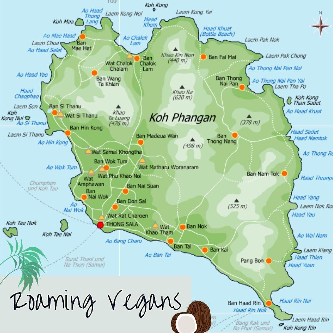 koh phangan island map