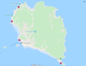 nude beach locations koh phangan map