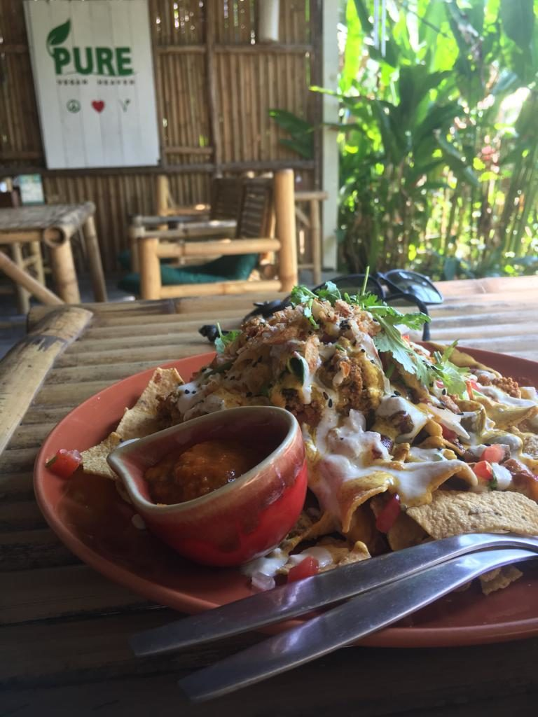 pure vegan nachos phangan