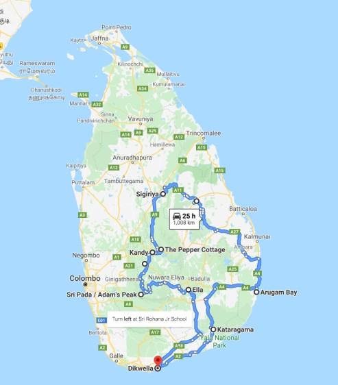 tuktuk travel route sri lanka