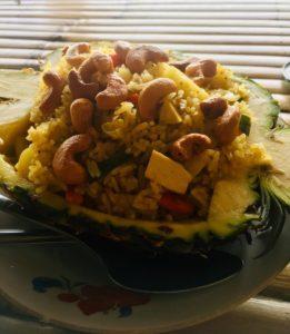 pineapple fried rice thai food
