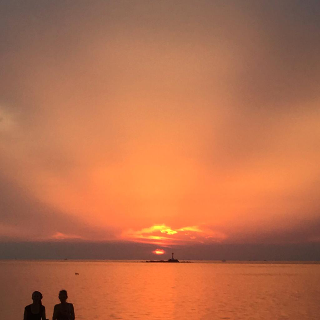 sunset at zen beach koh phangan