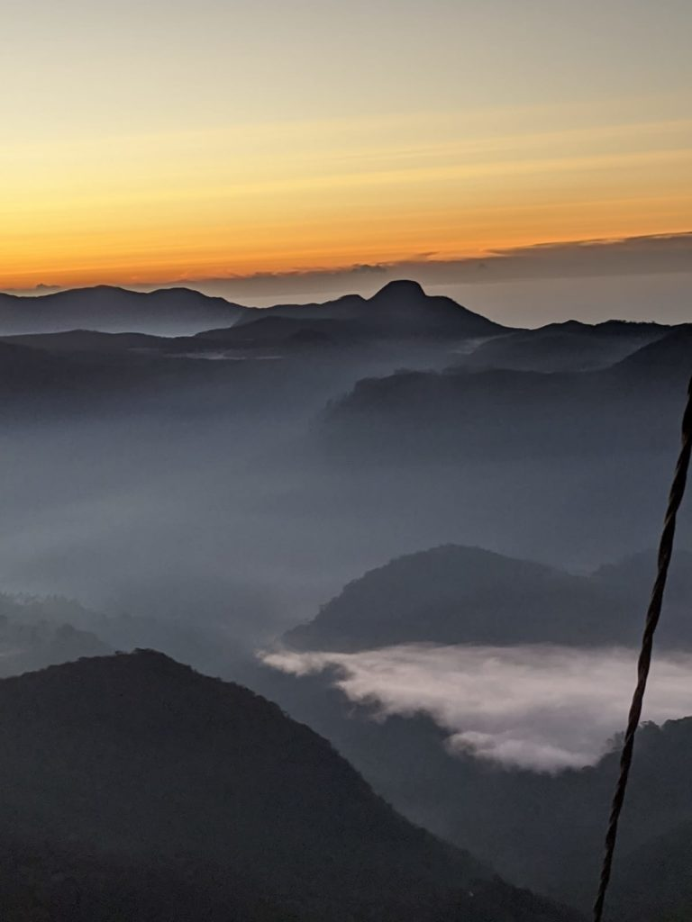 adams peak summit sunrise views