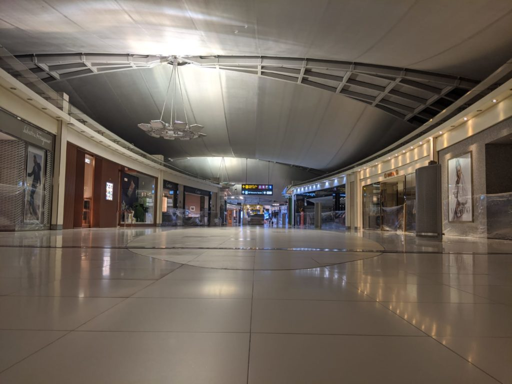 empty Bangkok airport due to corona virus outbreak