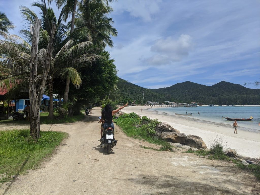 koh phangan motorbike travel