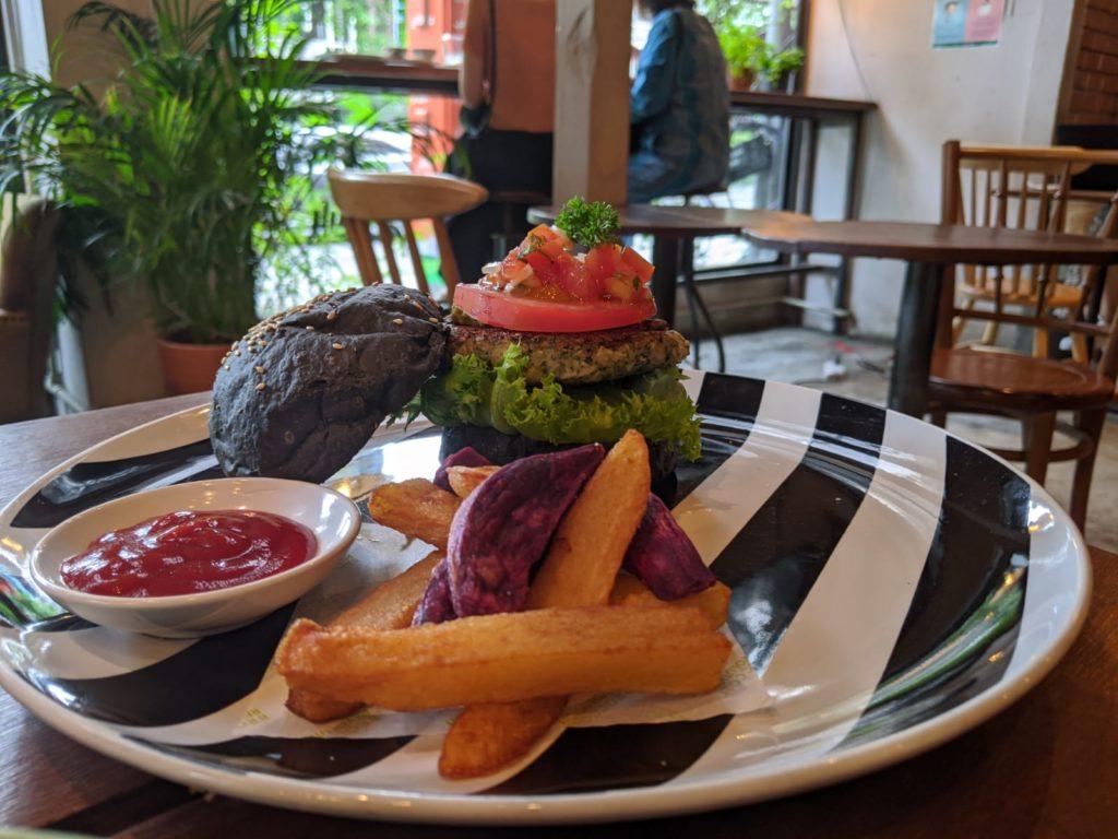 charcoal vegan burger bangkok