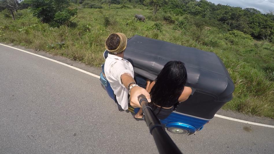 tuktuk elephant in sri lanka