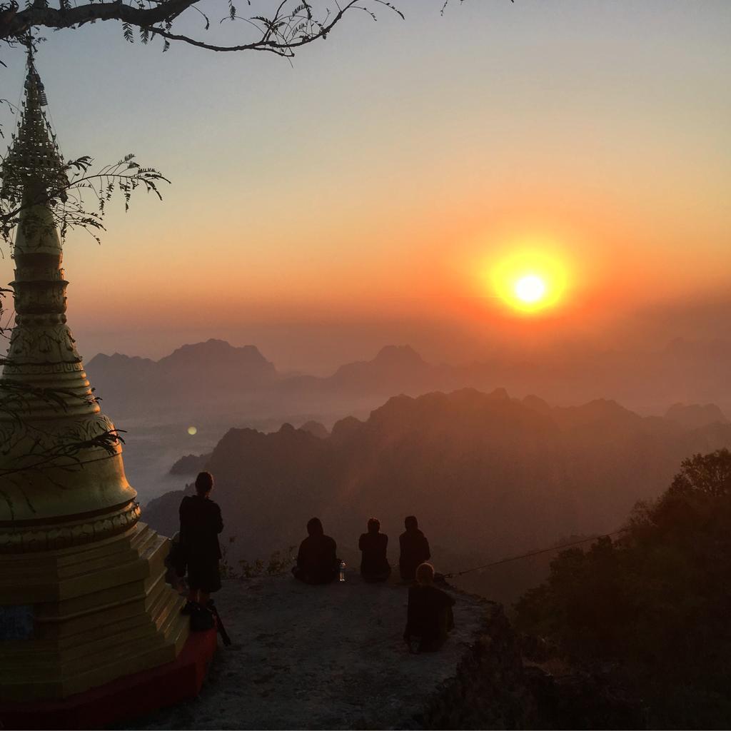 zwegabin sunrise myanmar
