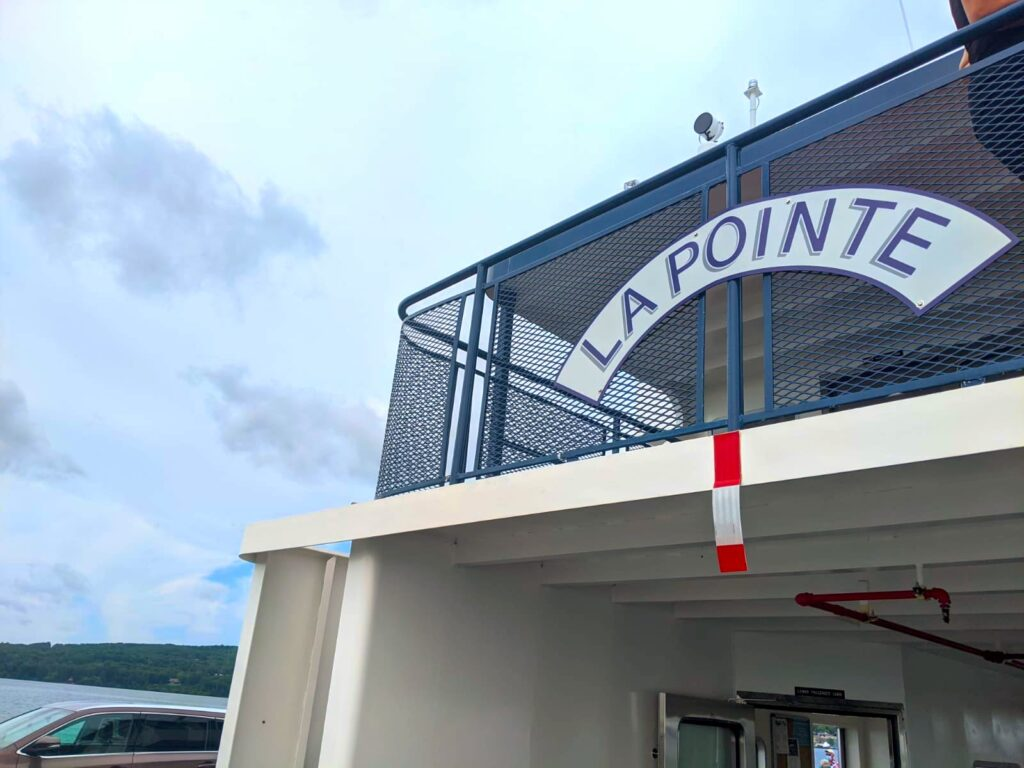 la pointe ferry bayfield wisconsin