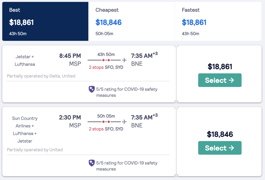 expensive flight prices during covid19
