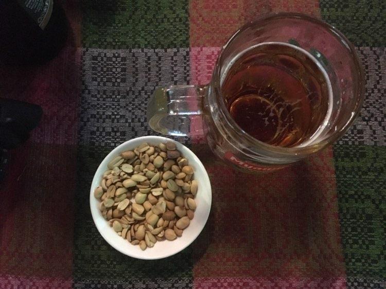 Myanmar peanuts and beer