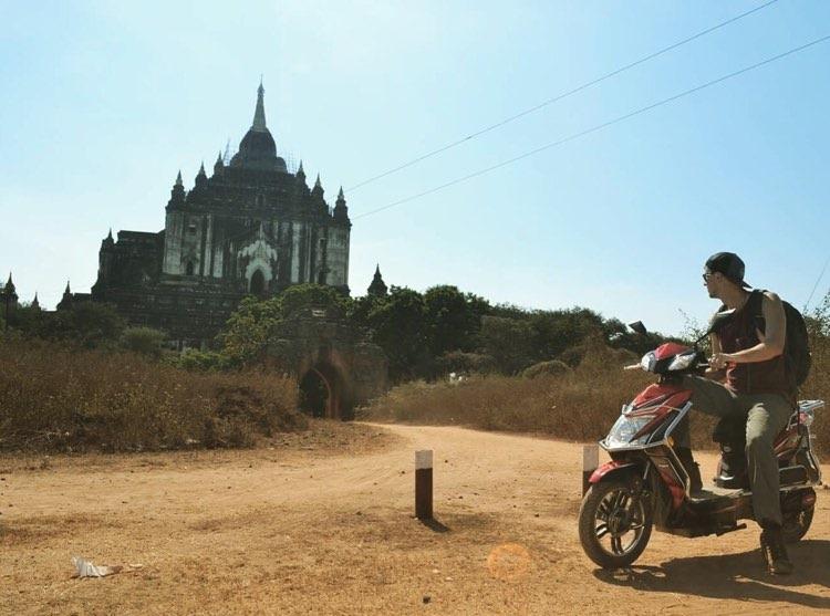 vegan traveler in bagan, myanmar
