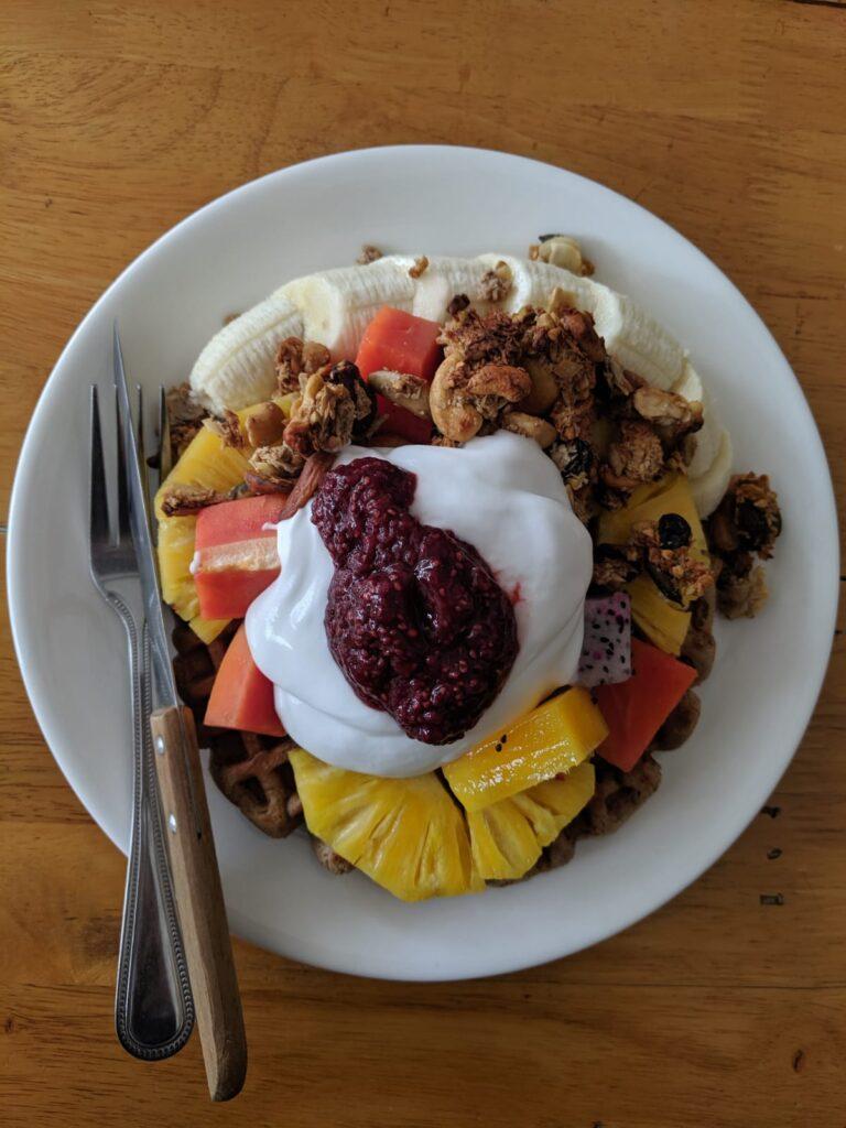 amazing vegan breakfast from eat.co phangan