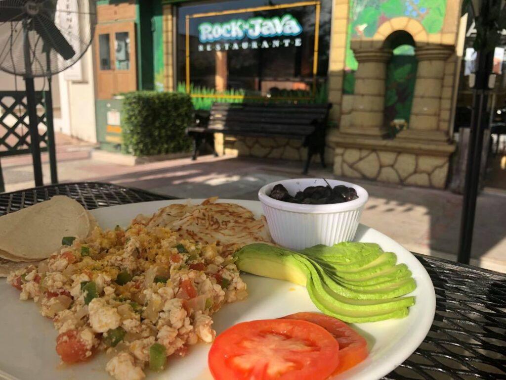 vegan breakfast on cozumel island