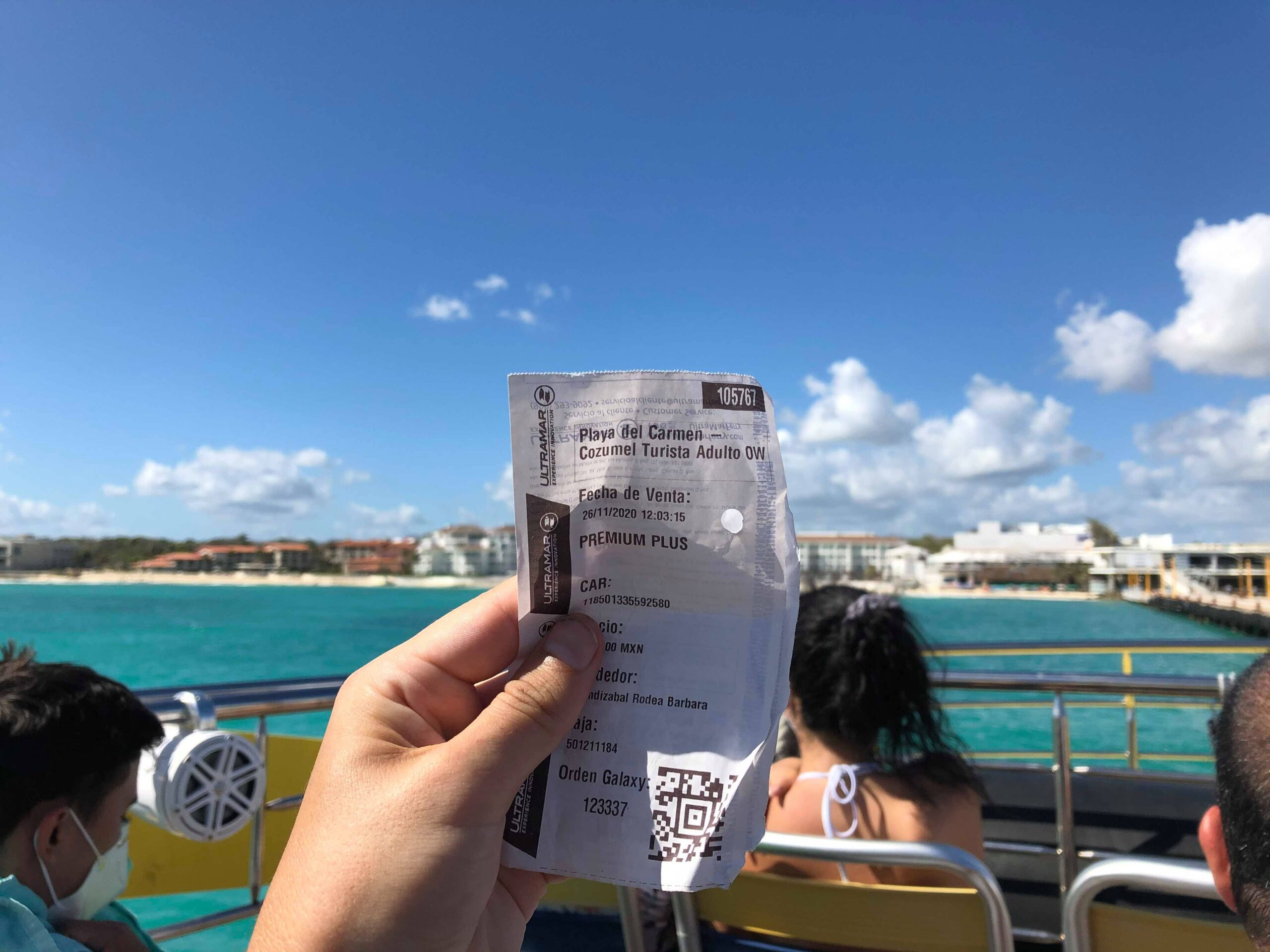 catching a ferry to cozumel