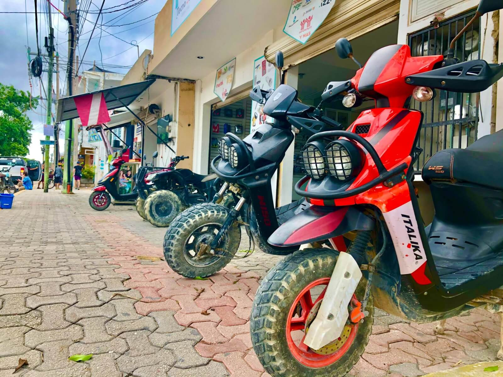 renting scooters in tulum