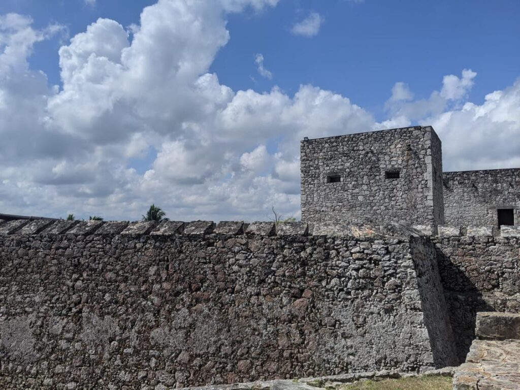 visiting bacalar fort in mexico