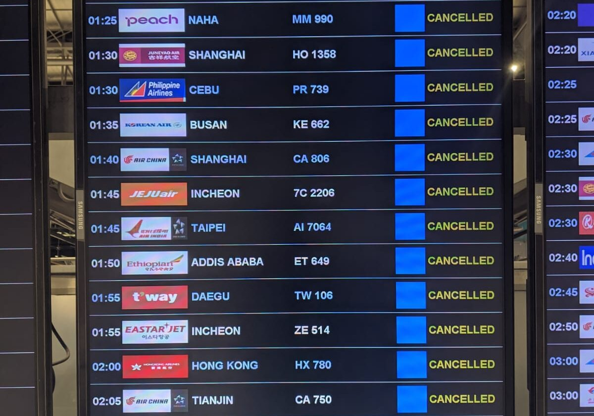 canceled flights due to covid19