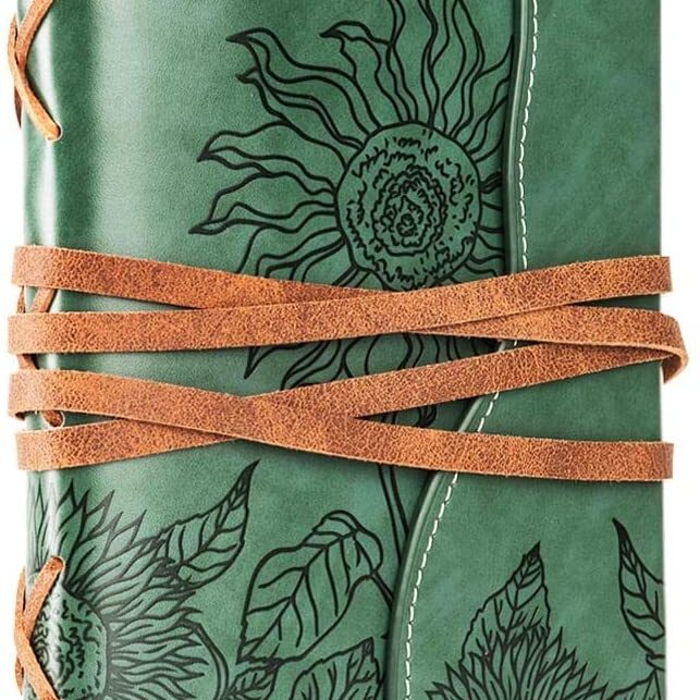 vegan leather travel journal